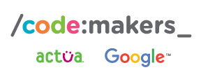Code:makers, Actua and Google.